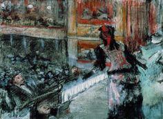 Scène Théâtre - Edgar DegasFrench 1834-1917