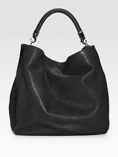 My new friend....that goes so well with everything!  Yves Saint Laurent YSL Large Leather Roady Hobo