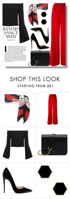 """""""parisian style."""" by anja-jovanovich ❤ liked on Polyvore featuring Gucci, Dolce&Gabbana, Bardot, Mulberry, Christian Louboutin and Janna Conner Designs"""