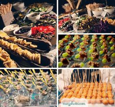 #wedding #reception #food #cocktail hour #buffet #hors devours