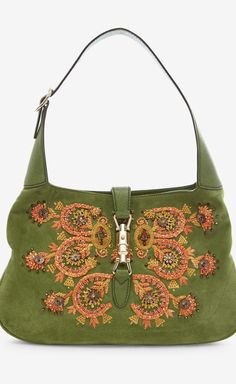Tom Ford for Gucci Green, Orange And Multicolor Handbag | VAUNTE - Click the picture for more info about handbags.