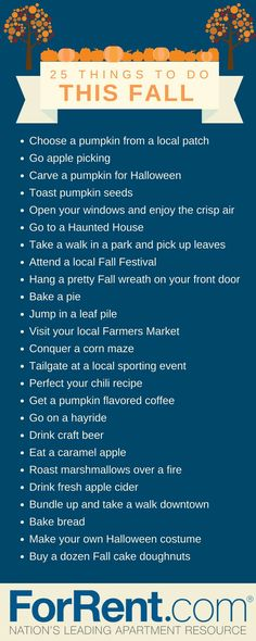 Autumn To Do Ideas from For Rent com