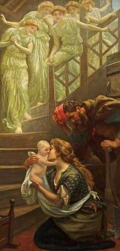 The Heavenly Stair (c.1887) Oil on canvas, 178 x 85.6 cm Collection: Russell-Cotes Art Gallery & Museum
