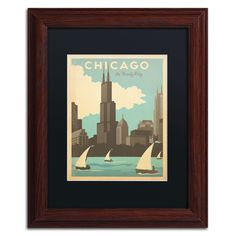 'Chicago Windy City' by Anderson Design Group Framed Graphic Art