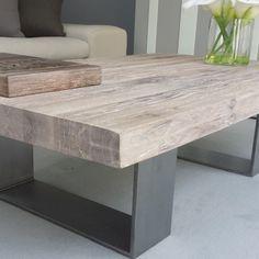 Wood & Metal Coffee Table