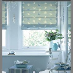 Vanessa Arbuthnott Roman blinds...this would be divine in a little boys nursery