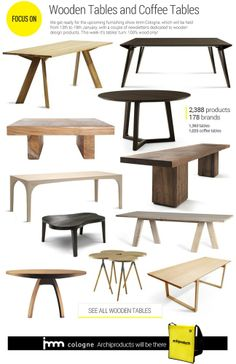 #archiproducts focus 131: wooden #tables and coffee tables www.archiproducts.com/en/focus/162917/focus-131.html