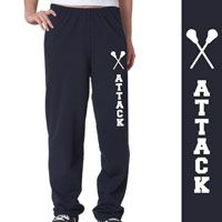 Lacrosse Attack Fleece Sweatpants - Our super comfortable fleece sweatpants are made from an extra-soft ring spun cotton blend for a softer feel and a no-pill performance.