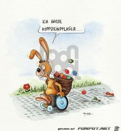 funny picture & # I hate cobblestones. Eine von funny picture & # I hate cobblestones.jpg & # from flea. One of 14329 files in the category & # funny pictures & # on FUNPOT. Funny Easter Bunny, Easter Bunny Pictures, Happy Easter, 9gag Funny, Funny Friday Memes, Funny Memes, Funny Quotes, Epic Texts, Vintage Cartoon
