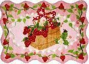 """Strawberry Patch Rug 39""""x58"""" by HomemartAmerica. $96.99. 39""""x58"""" Made out of 100% Nylon, with foam backing"""