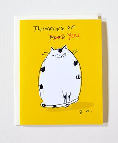 Thinking of You - New Card :D  Medium: Card based on my original ink drawing. Size: A2 4.25 x 5.5 inches each Quantity: 1 Paper: Radiant White Card