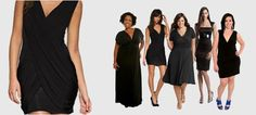 Custom black dresses from day to night.