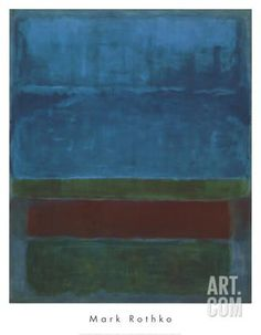 Blu, verde e marrone Stampa d'arte by Mark Rothko at Art.com