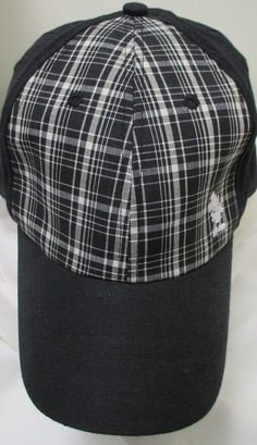 New in our eBay store...click photo for details.  Disney Parks Mickey Mouse Embroidered Black Plaid Baseball Hat Cap Adult GUC #DisneyParks #BaseballCap #MickeyMouse #mickeymouse #disney #mickey #plaid #baseball #hat #cap