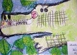 Artsonia Art Exhibit :: 2nd Grade Rumble in the Jungle Animal Paintings