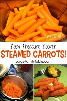 Cooking Steamed Carrots in the Electric Pressure Cooker is a breeze. Here are some of the best tips on getting this done! You will love this way of cooking carrots! Baby Carrot Recipes, Baby Food Recipes, New Recipes, Cooking Recipes, Dinner Recipes, Snack Recipes, Ninja Recipes, Cooking Hacks, Skillet Recipes