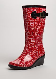 wedge rain boots from Henry Ferrera $25 on ideeli...who says you can't be practical yet fashionable!?