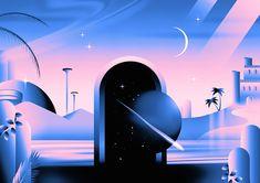 Various Illustrations 2015 on Behance - Victor Moatti Graphic Illustration, Graphic Art, Graphic Design, Neon Design, Art Visionnaire, 3d Art, New Retro Wave, Behance, Affinity Designer