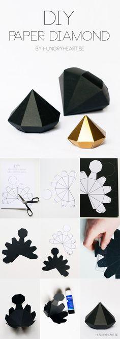 DIY 3D Decorative Paper Gems