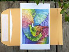 Impresión del arte de la pared bebé por PaintRainbowPrints en Etsy