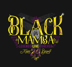 Black Mamba #calligraphy #type #lettering #lovebasketball #kobebryant #blackmamba #respect #legendsliveforever