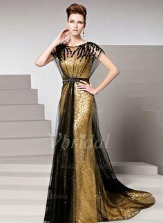 d2a9da6430 Ulass New Year Night Dress Vestidos De Fiesta 2016 Gold Sequined Long Formal  Elegant Evening Party Dress Evening Gown Charming Sequins Court Train  Zipper-up ...