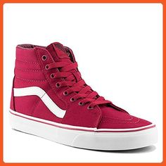 VANS Cordovan Red/White Sk8-Hi Shoe - Sneakers for women (*Amazon Partner-Link)