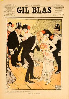 1902 Gil Blas vintage magazine cover
