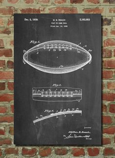 Sports blueprint art pottery barn kids boys bedroom pinterest this patent poster is printed on 90 lb cardstock paper choose between several paper malvernweather Choice Image