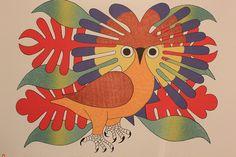 Sun Owl and Foliage by Kenojuak Ashevak
