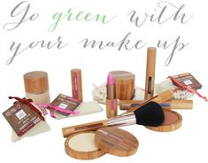 Go Green With Your Makeup -- ZAO make-up is 100% organic and is great for environmentalists; the packaging is made using sustainable bamboo. www.ZAOorganicMakeup.com