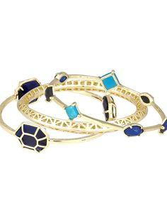Kendra Scott Beverly Bangle Bracelets in Noir Blue