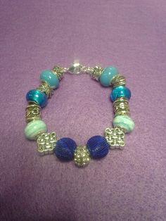 Blue Bali inspired bracelet