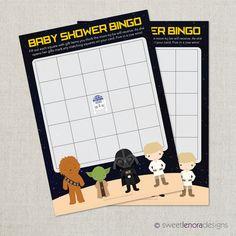 Star Wars Baby Shower Bingo Printable Baby by SweetLenoraDesigns