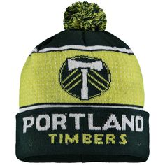 60452cfd55e Men s Portland Timbers Green Big Logo Light-Up Cuffed Knit Hat with Pom