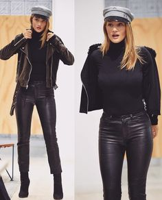 Rosie Huntington-Whiteley Cold Day Outfits, Fall Winter Outfits, Winter Fashion, Rosie Huntington Whiteley, Rosie Whiteley, All Black Fashion, All Black Outfit, Lawyer Outfit, Queen