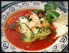 The Best Chicken Tortilla Soup Recipe - Add black beans and corn. Crockpot Recipes, Soup Recipes, Chicken Recipes, Healthy Recipes, Delicious Recipes, Healthy Foods, Best Chicken Tortilla Soup, Chicken Soup, Bon Appetit