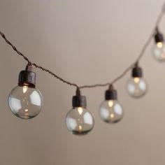 Clear Orb Solar LED 20 Bulb String Lights