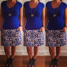 @whowhatwear wardrobe summer challenge #Day21 : Wear a bold skirt with a simple top ... #wwwsummer30 #fashionandthecity #ootd #wiw #summerstyle #trend #graphic #prints