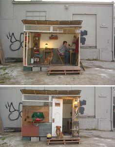 tiny emergency shack shelter