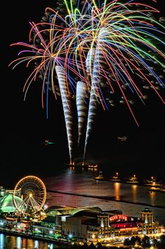 Fireworks at Navy Pier in Chicago, Illinois, a lot like our big finish!