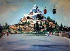 1960s tomorrowland terrace   MORE rare Disneyland artwork and HOW to order prints of these great ...