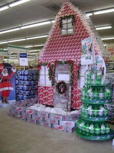 Coke/Soda Christmas House Display