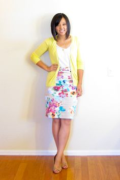 Putting Me Together: One Piece Many Ways Linkup  Love this sunny yellow! Need one in this color to make cardigans work with summertime.