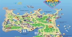 CocoCay Map (aka Little Stirrup Cay). Royal Caribbean Private Island