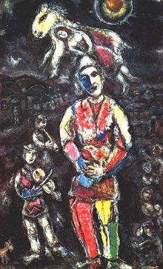 Chagall, Marc - The Samtimbanque - Ecole de Paris - Abstract - Oil on canvas