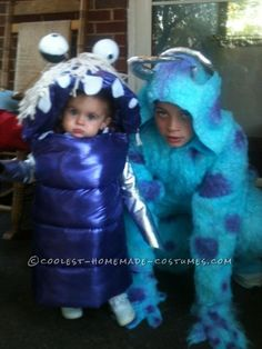 Adorable Boo and Sully from Monsters Inc. Toddler and Child Costumes ... This website is the Pinterest of costumes