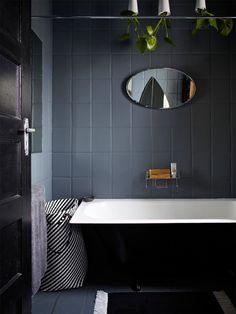 Noir et blanc dans la salle de bain / Black and white in bathroom