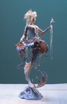 Sculpture by Forest Rogers Art Sculpture, Mermaid Sculpture, Art Moderne, Mermaid Art, Dragon Art, Fantasy Creatures, Beautiful Creatures, Art Inspo, Amazing Art