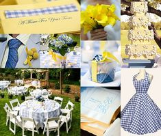 Gingham! wedding boards from www.groomsoldseparately.com